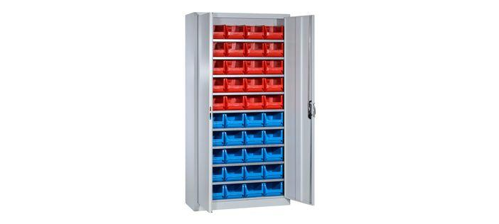 Cabinets with open fronted storage bins