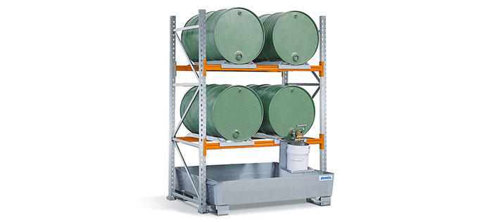 Drum storage racking