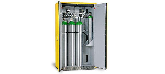 Fire rated gas cylinder storage