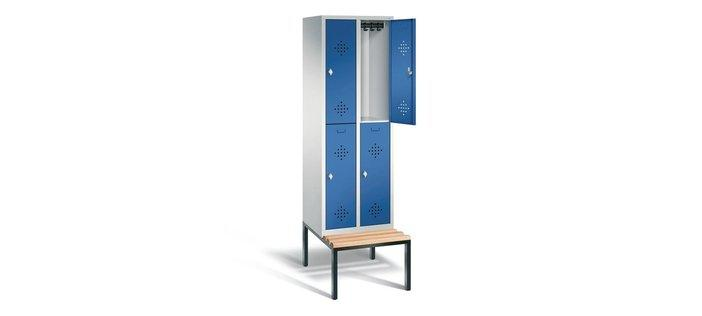Lockers with bench