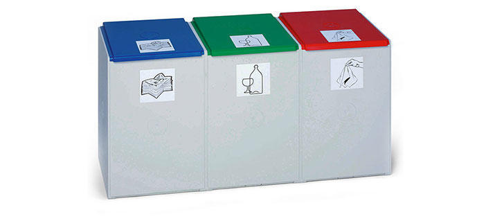 Recycling separation bins