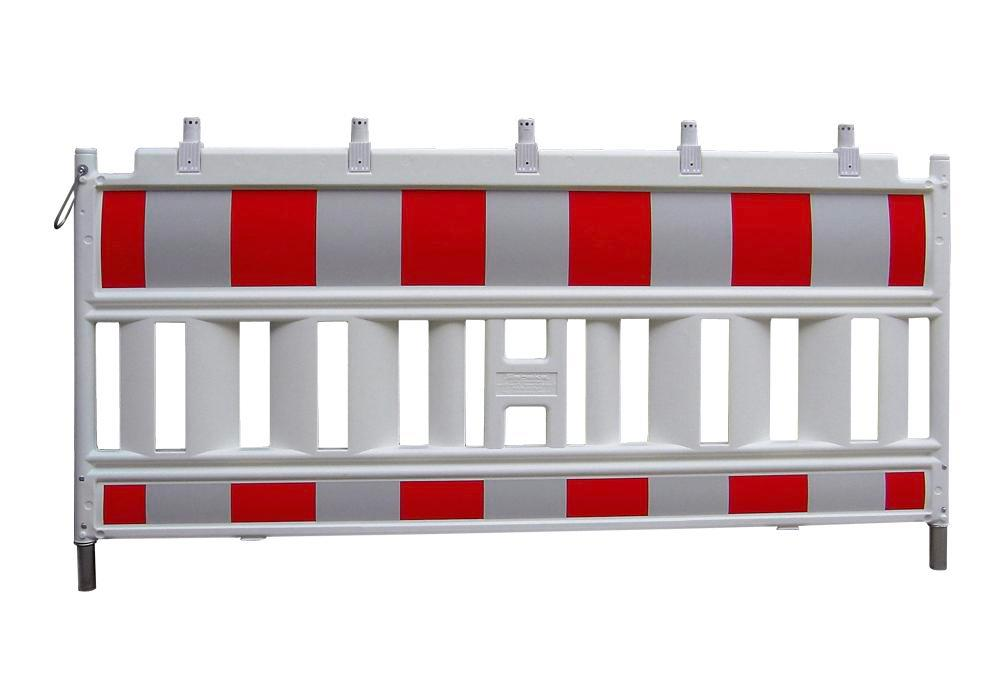 Barrier fence Euro 1 to ZTV-SA, W 2000 mm, red white with lamp adapter