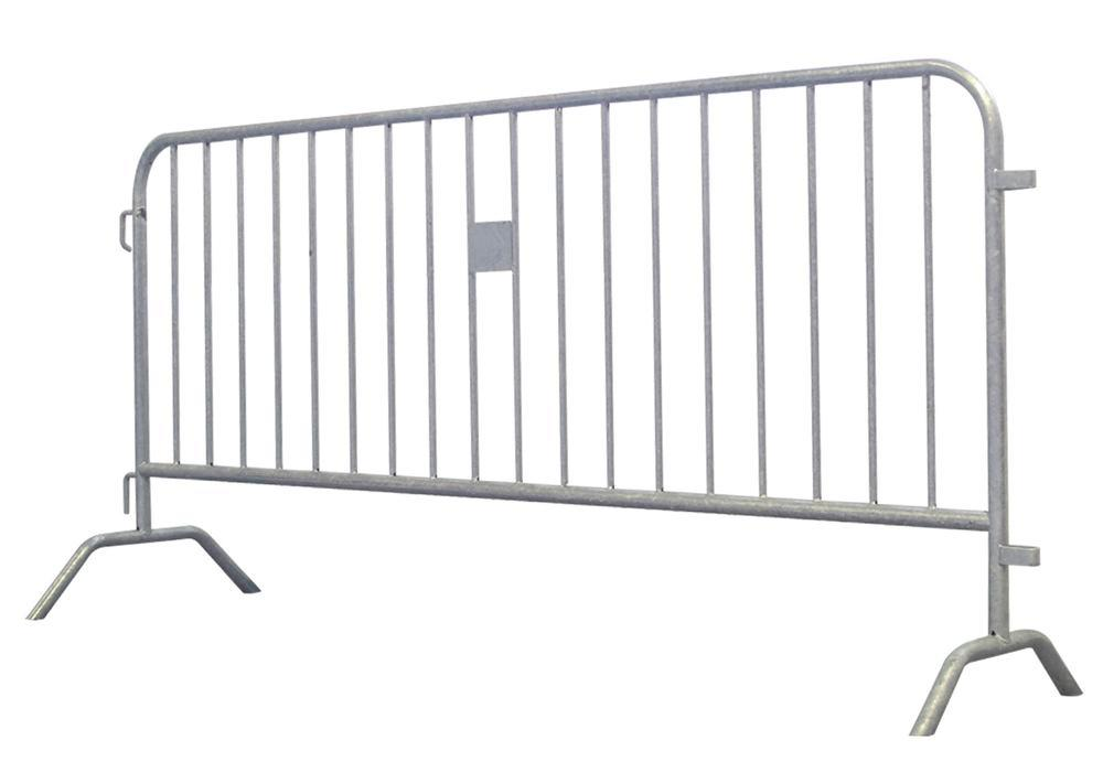 Barrier fence Model D, width 2000 mm, galvanised, incl. connector