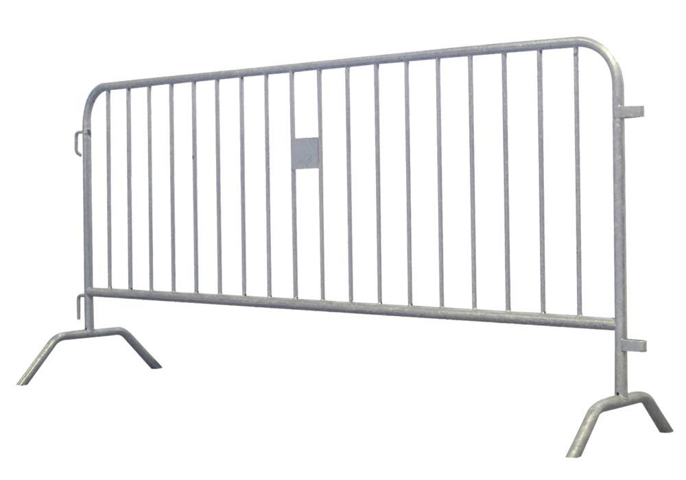 Barrier fence Model D, width 2500 mm, galvanised, incl. connector - 1