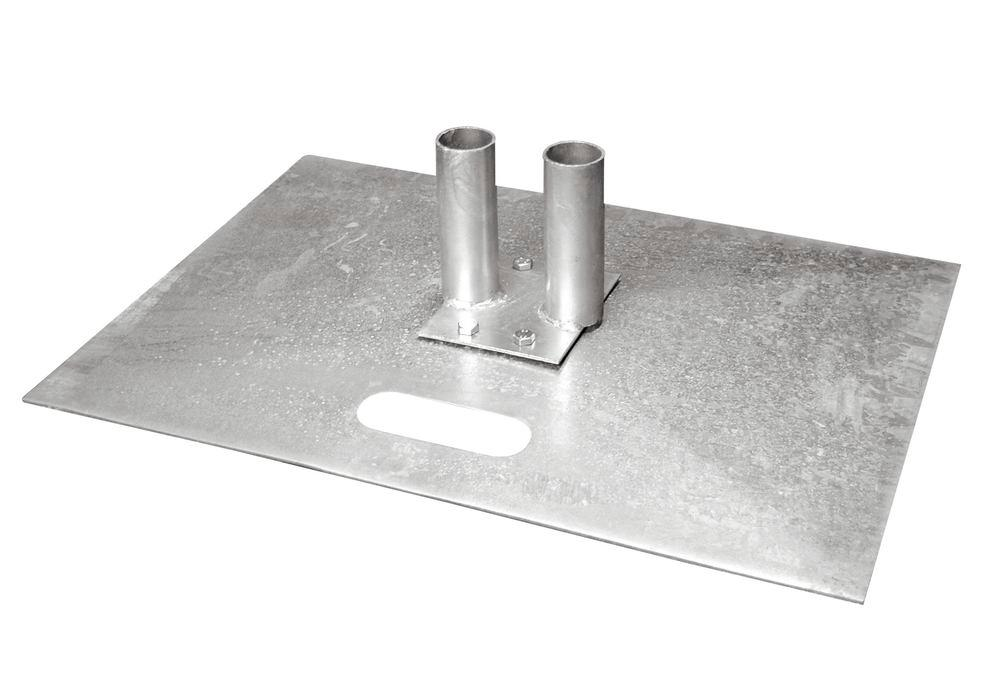 Mobile fence base plate