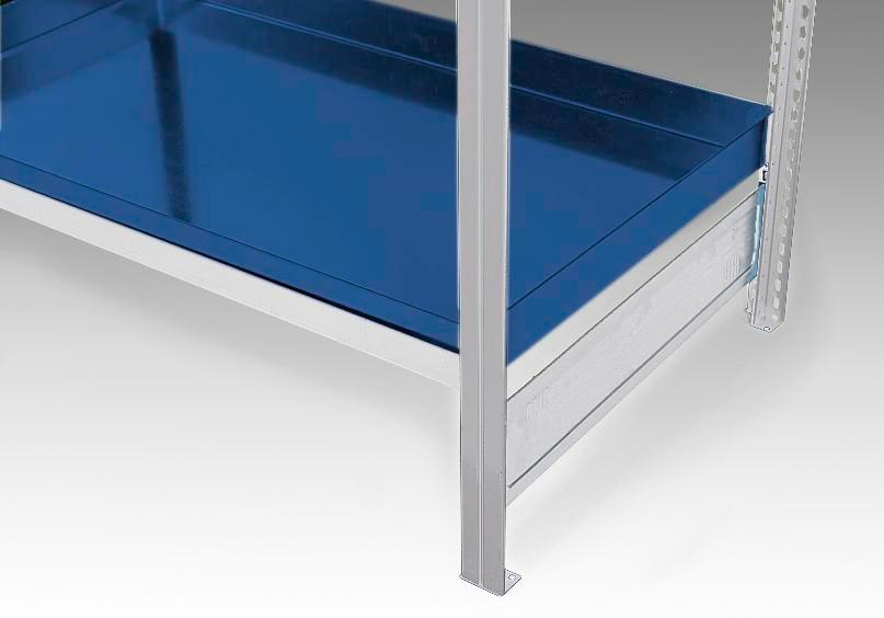 Spill pallet, painted, as additional shelf for containment shelving GRW 1040