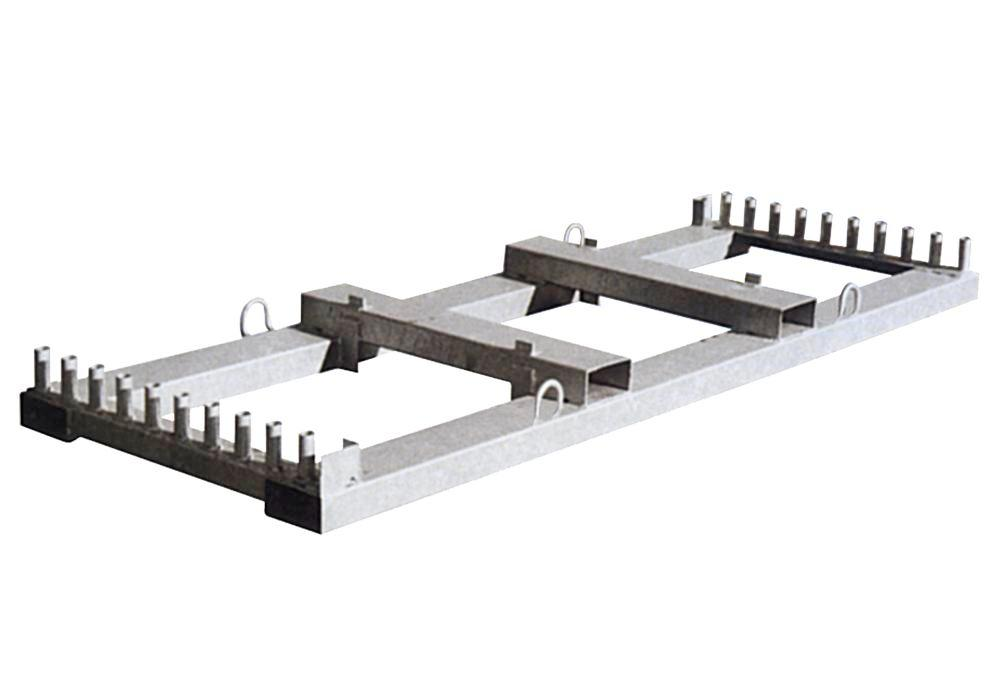 Storage and transport cross member, W 2000 mm, for 20 barrier fences - 1