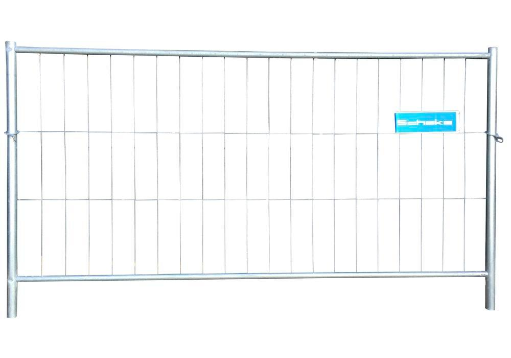 Sturdy mobile fence with welded mesh, hot dip galvanised, W 2200, H 1200 mm, compensating element