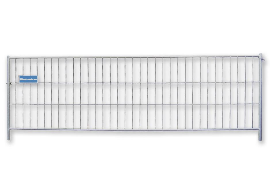 Sturdy mobile fence with welded mesh, hot dip galvanised, W 3500, H 1200 mm, fence panel element