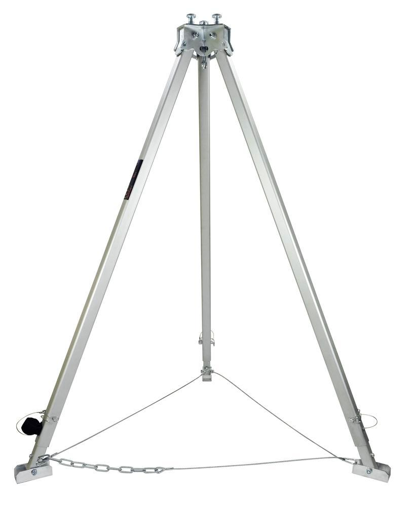 Tripod, aluminium with 3 anchor points, 500 kg load capacity
