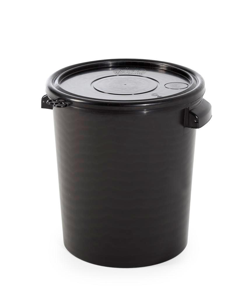 UN hobbock in PP, 30 litre, black, electrically conductive, transport approved