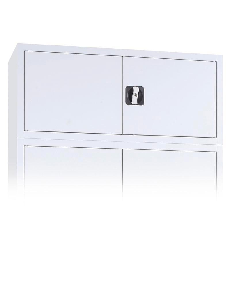 Additional unit for tool cabinets Ever, body and doors in grey, width 925 mm,