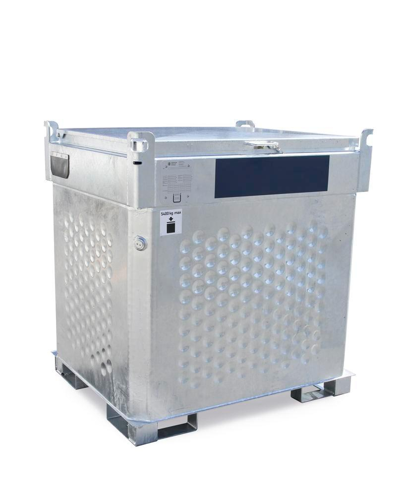 Double-walled mobile fuel diesel tank Model KI- D, 700 litres, with 230 V pump and accessories