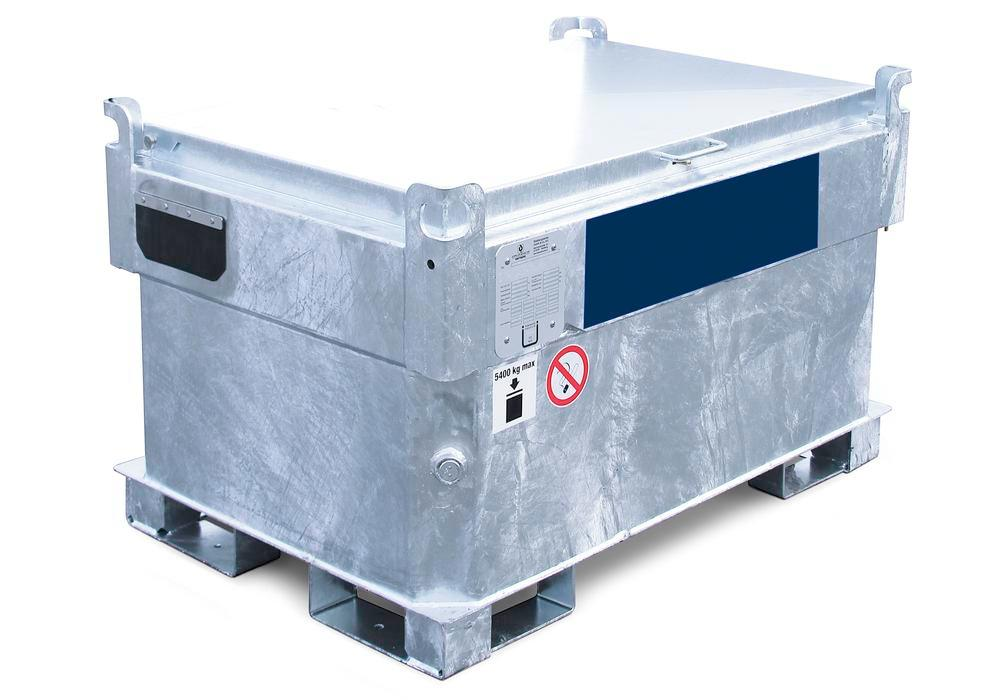 Double-walled mobile petrol tank Model KI-B, 330 litres, with 12 V pump (ATEX) and accessories