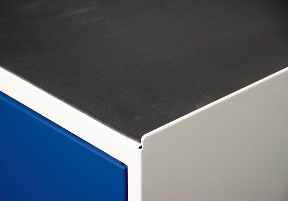 Grooved rubber cabinet mat, Series SDC 410, 1500 mm wide