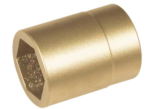 "Hex wrench socket, 1"" x 70 mm, special bronze, spark-free, for Ex zones"