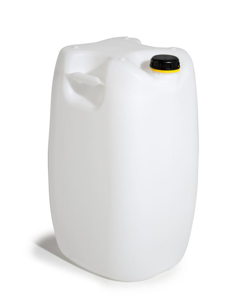 Plastic canister in polyethylene (PE), 60 litre volume, transparent natural