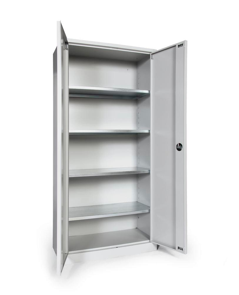 Tool storage cabinet Ever, body and doors grey, 4 shelves, width 800 mm, Model P-800-4