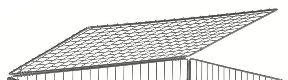 Cover for mesh trolley KM, 830 x 630 mm