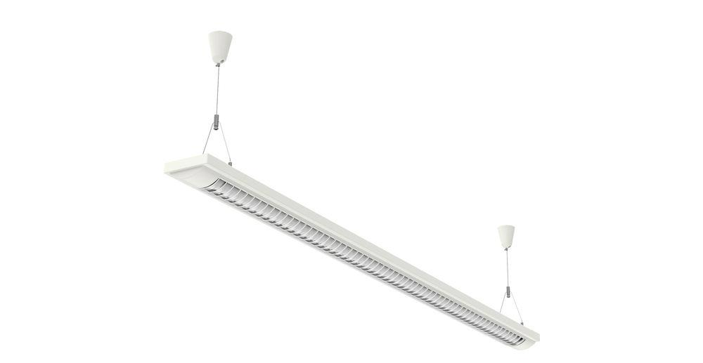 Energy saving pendant and ceiling light MAUL line 1x 58W, W 1547 mm