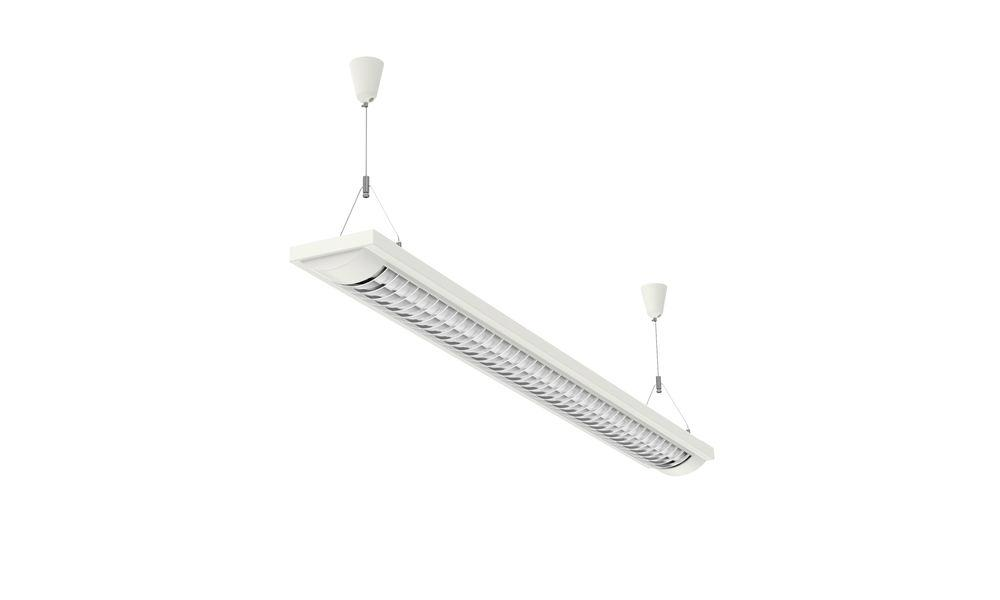 Energy saving pendant and ceiling light MAUL line 2x 36W W 1247 mm