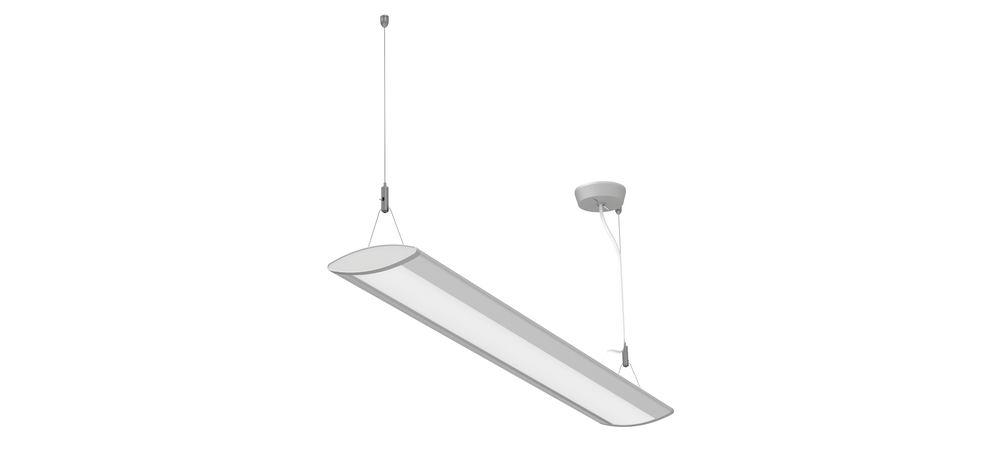 LED pendant and ceiling light MAULeye, 30 W, W 90 cm