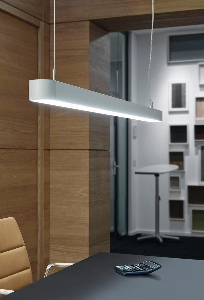 LED pendant and ceiling light MAULstraight, 36 W, W 1200 mm