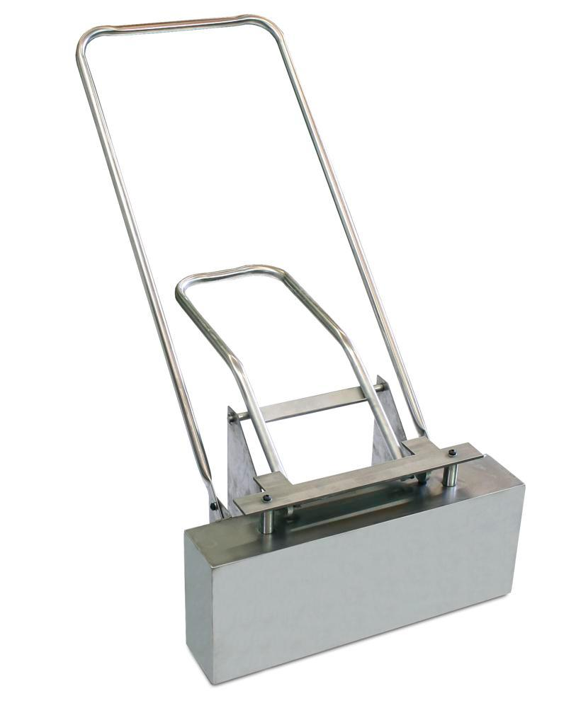 Magnetic sweeping machine in stainless steel