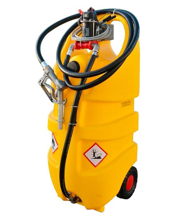 Mobile diesel fuel tank Model Caddy, 110 litre volume, with 24 V electric pump
