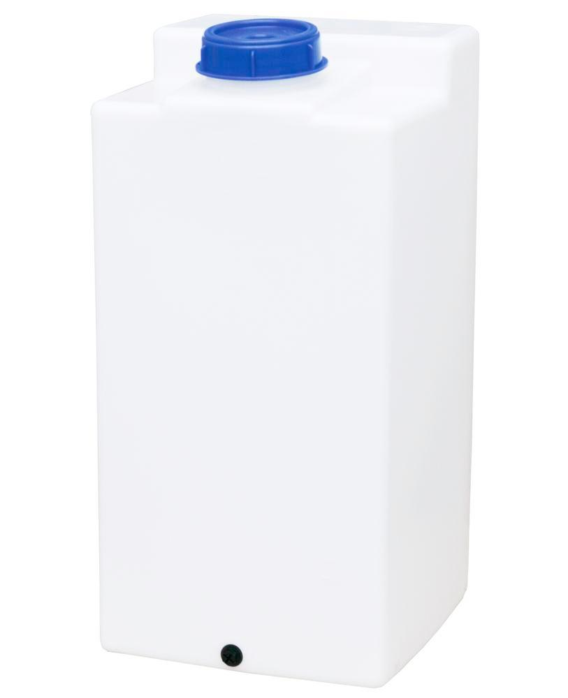 Rectangular storage and dispensing containers in polyethylene (PE), 250 litre volume, transparent