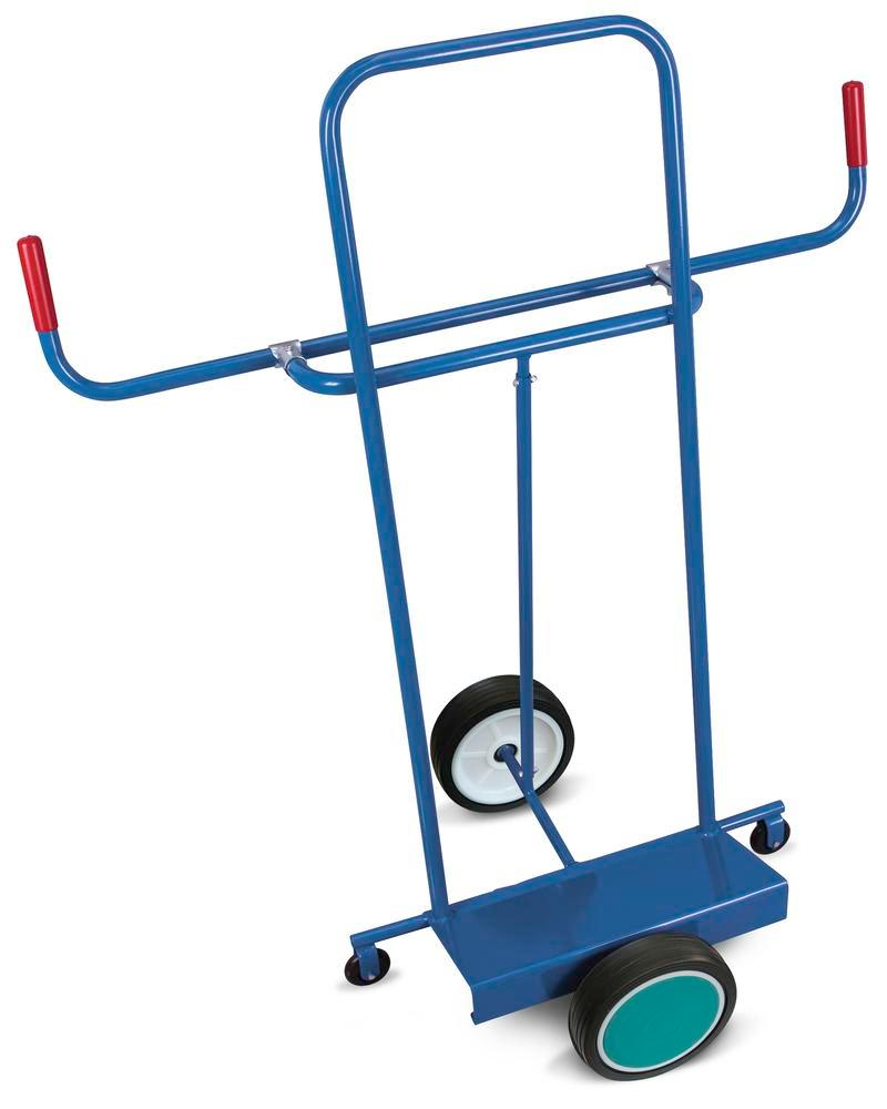 Board trolley DENIOS classic-line, steel, solid tyres, 2 support castors, base 500x200mm, 250kg