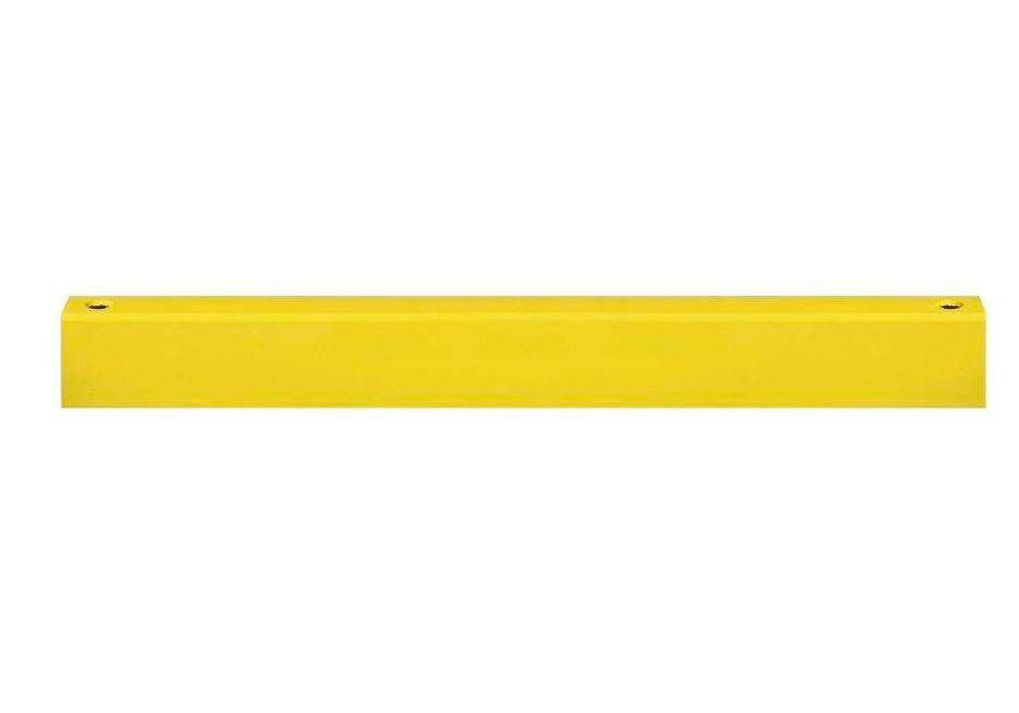 Safety barrier rail crossbar, yellow plastic-coated, for setting in concrete, incl. screws, 1000 mm