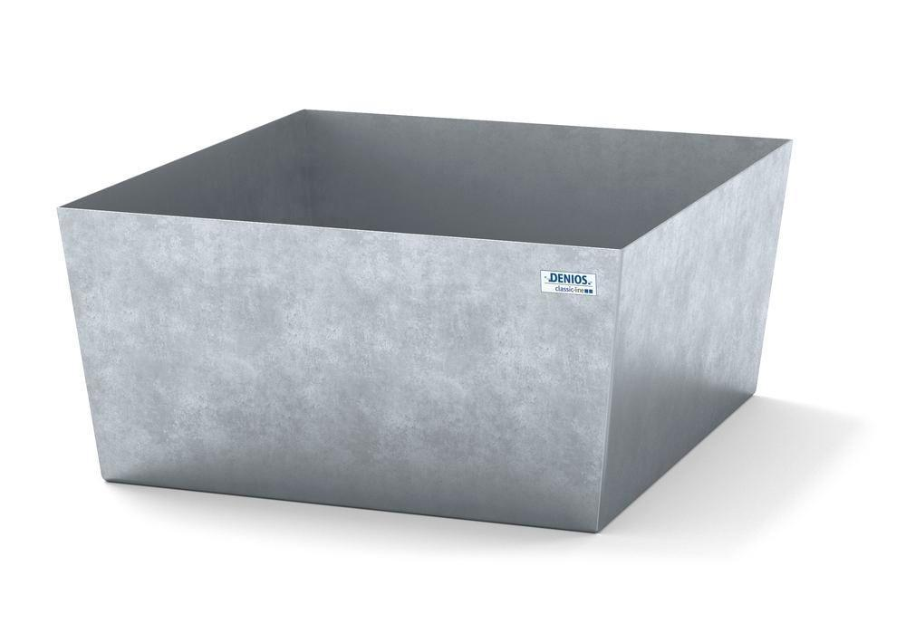 Spill pallet classic-line in steel for 1 drum, galvanised, no grid, 885x815x378