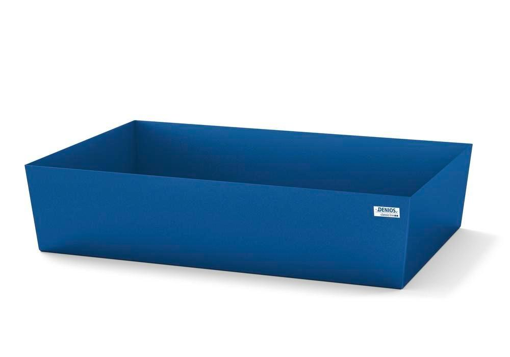 Spill pallet classic-line in steel for 1 drum, painted, no grid, 1236x815x255