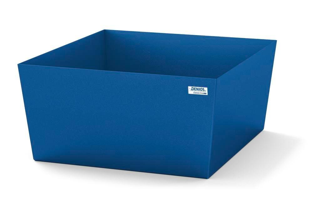 Spill pallet classic-line in steel for 1 drum, painted, no grid, 885x815x378