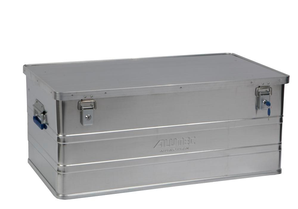 Aluminium box Classic, without stacking corners, 142 litre capacity