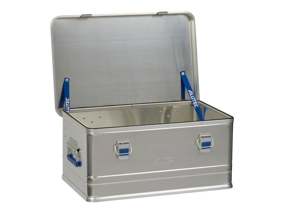 Aluminium box Comfort, without stacking corners, 48 litre capacity