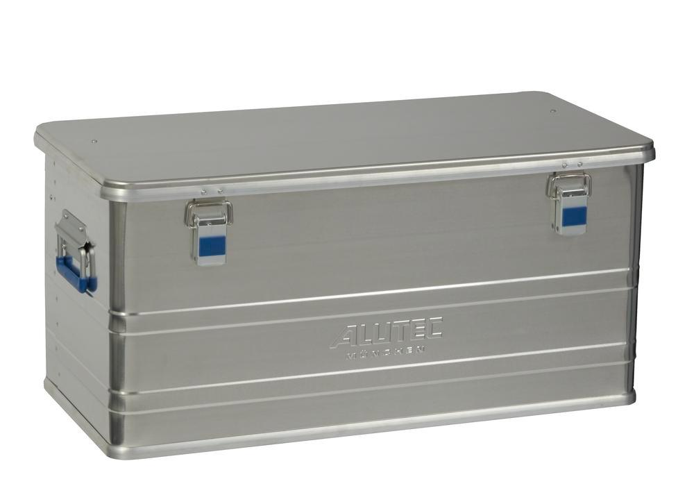 Aluminium box Comfort, without stacking corners, 92 litre capacity