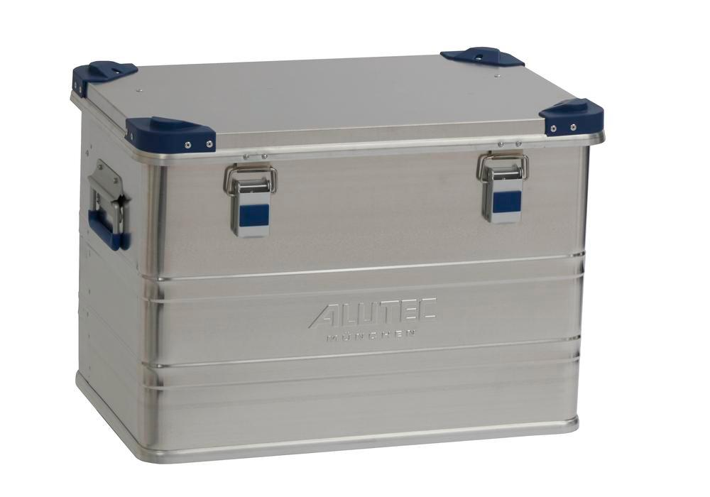 Aluminium box Industry, with stacking corners, 73 litre capacity