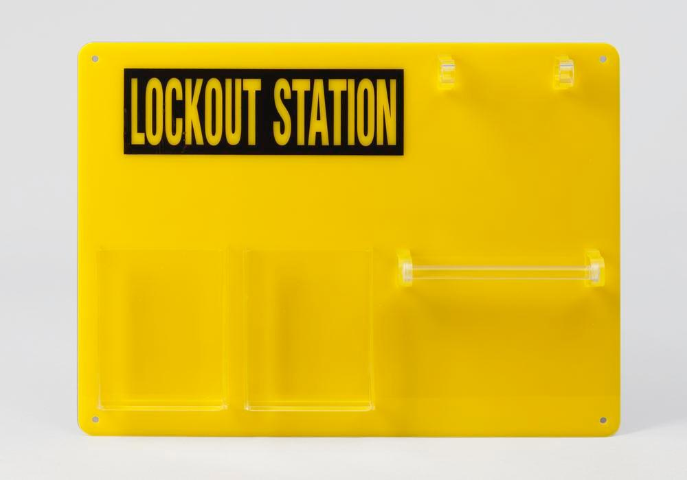 Lockout board for 5 users, for clear storage of locks and accessories