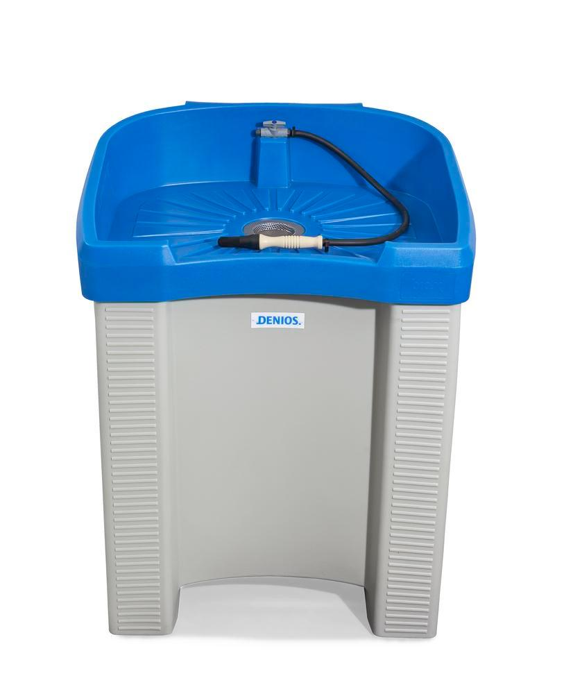 Parts cleaning table bio.x B200, including filter and special cleaning fluid, WxD 760x560 mm