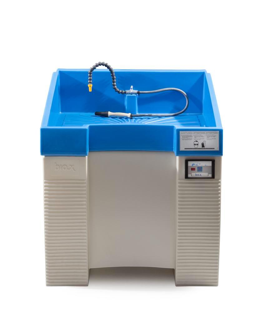 Parts cleaning table bio.x C500, double walled plastic construction, base unit, WxD 930x545 mm - 12
