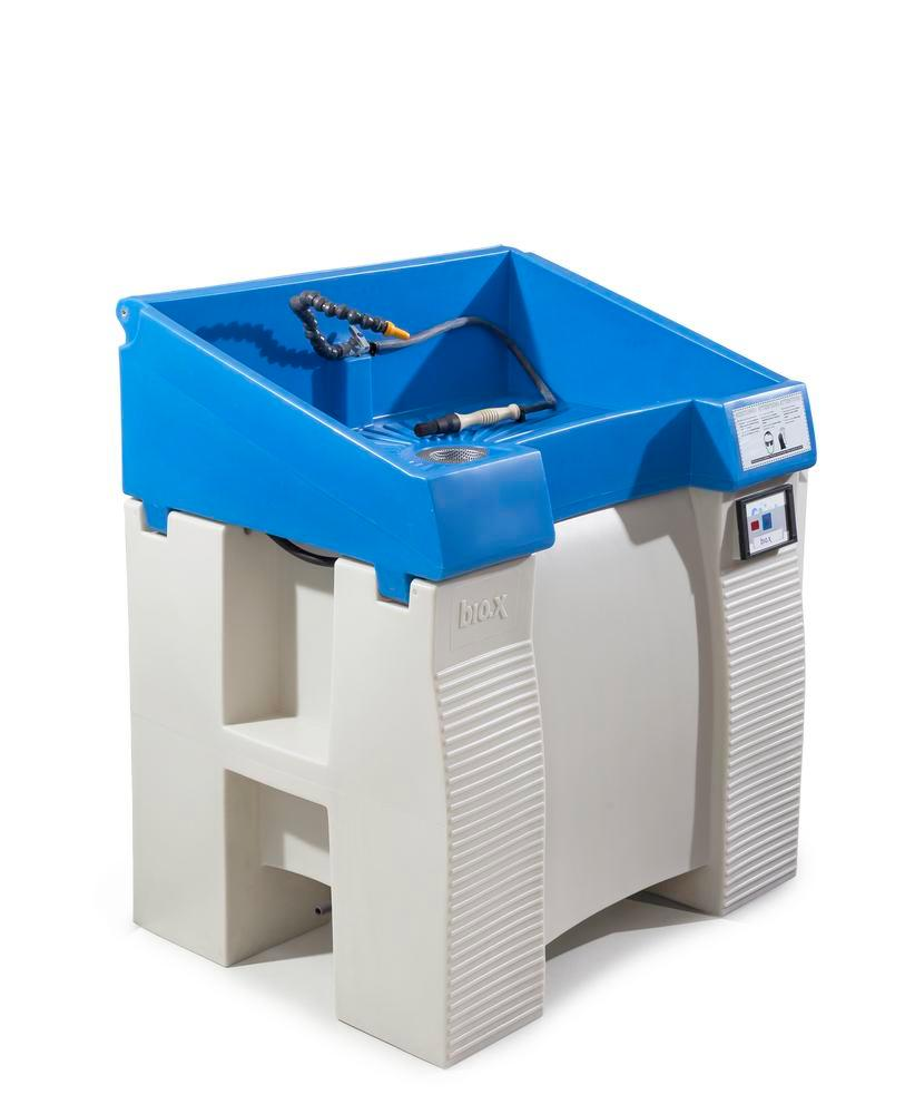 Parts cleaning table bio.x C500, double walled plastic construction, base unit, WxD 930x545 mm