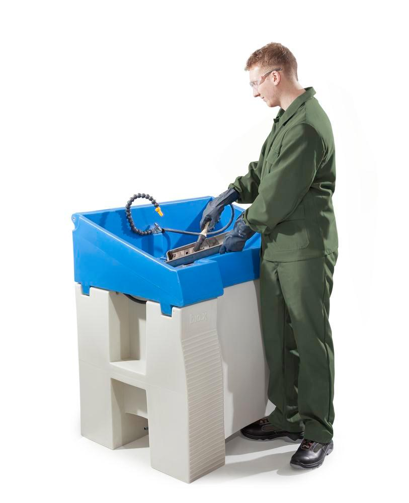 Parts cleaning table bio.x C500, double walled plastic construction, base unit, WxD 930x545 mm - 5