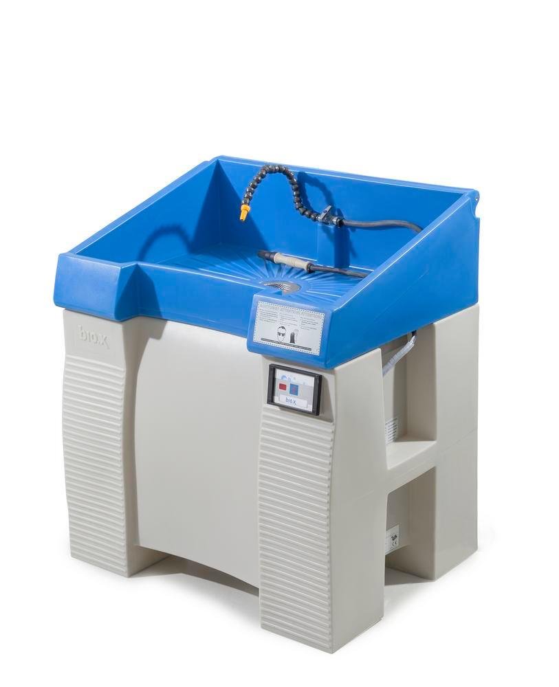 Parts cleaning table bio.x C500, double walled plastic construction, base unit, WxD 930x545 mm - 9