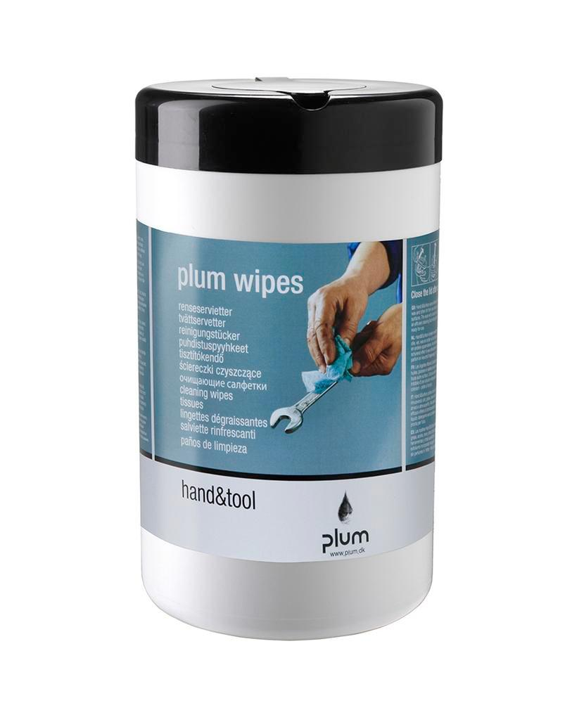 PLUM moist cleaning cloths, 6 dispenser boxes each with 50 cloths, for cleaning hands and tools