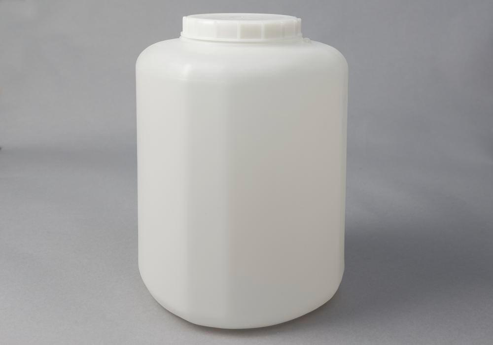 Wide neck container in HDPE, natural-transparent, 10 litre