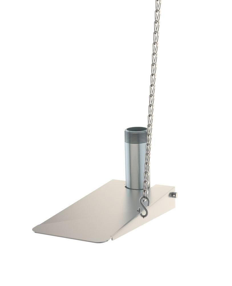 Foot pedal for emergency shower, stainless steel, Type G 1991 - 1