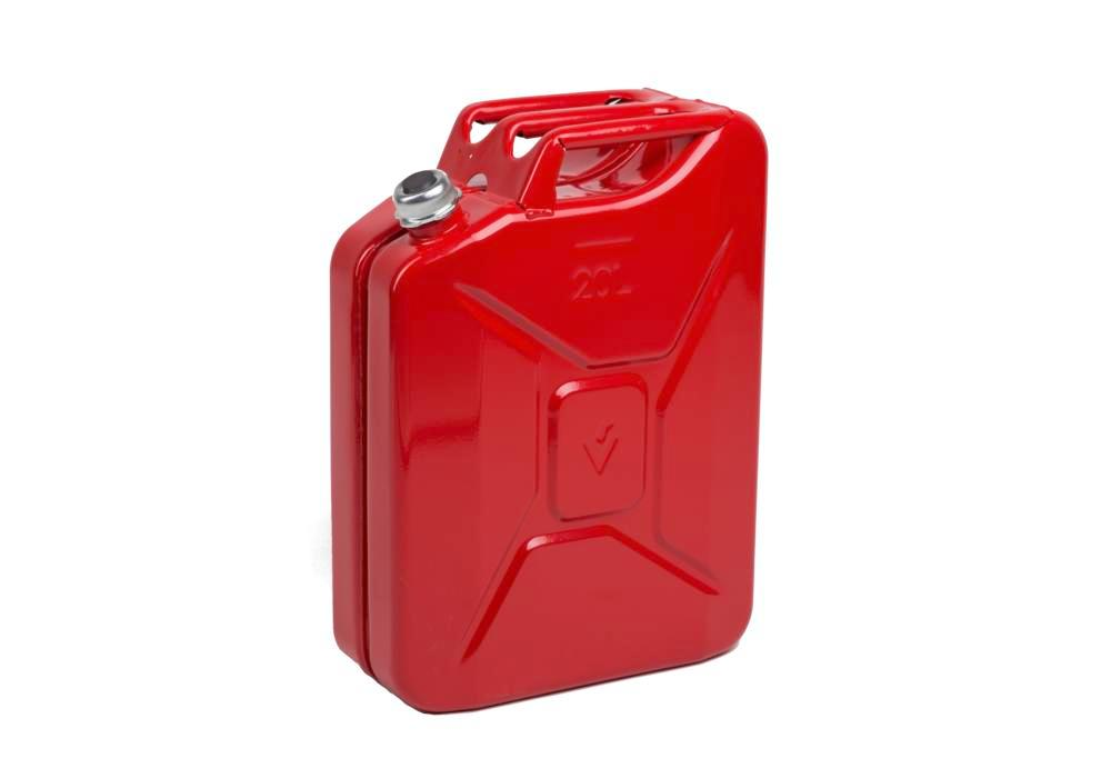 Fuel canister in steel, with screw cap, 20 litre volume, with UN approval