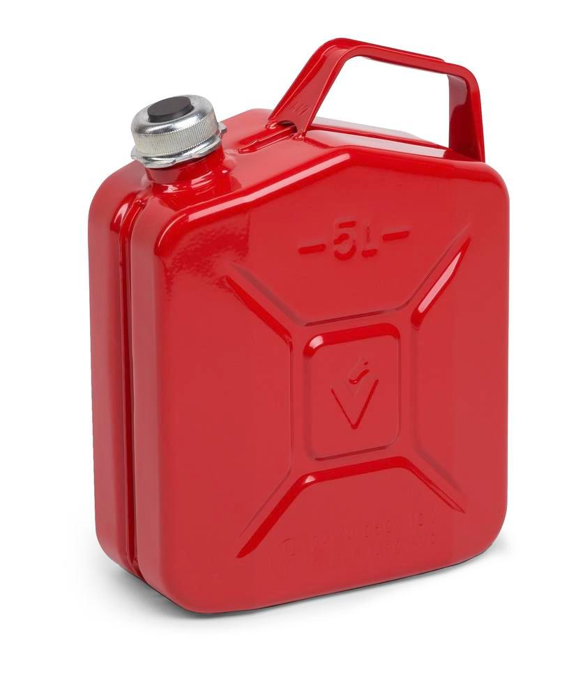 Fuel canister in steel, with screw cap, 5 litre volume, with UN approval